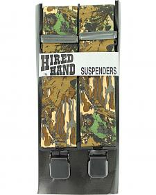 Hired Hand Mossy Oak Breakup Camouflage Suspenders