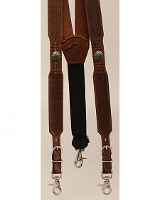 Nocona Leather Galluses with Buffalo Nickel Conchos