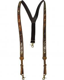 Nocona Mossy Oak Leather Suspenders