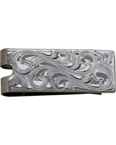 Bar V Ranch by Vogt Fully Hand Engraved Money Clip Western & Country 321-005