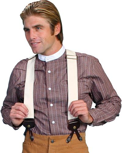 WahMaker by Scully Canvas Suspenders $45.99 AT vintagedancer.com