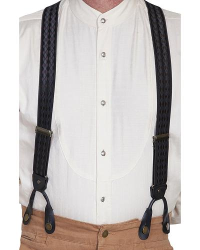 Rangewear by Scully Tonal Jacquard Elastic Suspenders $33.99 AT vintagedancer.com