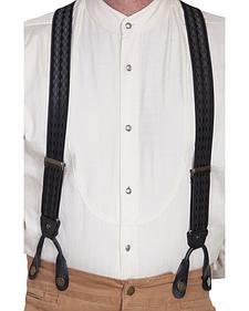 Rangewear by Scully Tonal Jacquard Elastic Suspenders