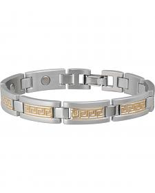 Sabona Men's Greek Key Duet Magnetic Bracelet