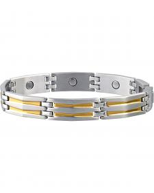 Sabona Men's Silhouette Duet Magnetic Bracelet