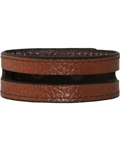 Stetson Men's Leather Cut-Out Wristband