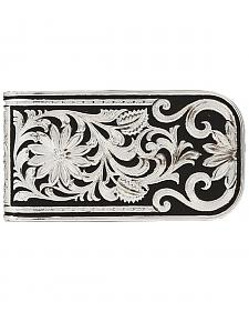 Montana Silversmiths Men's LeatherCut Bitterroot Money Clip