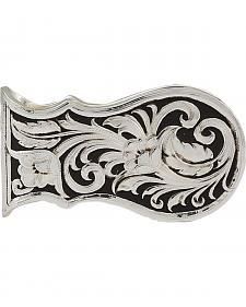 Montana Silversmiths Men's LeatherCut Scalloped Money Clip