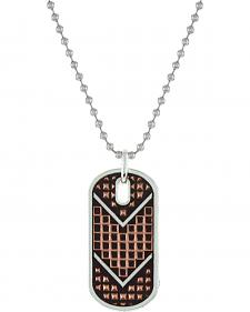 Montana Silversmiths Men's CrossCut Mesh Dog Tag Necklace