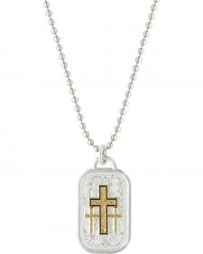 Montana Silversmiths Men's Stainless Steel Golden Cross Necklace
