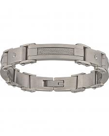 Montana Silversmiths Men's Stainless Steel Rivet Bracelet