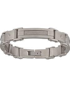 Montana Silversmiths Men's Stainless Steel Rivet Bracelet