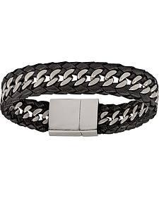 Montana Silversmiths Men's Stainless Steel Tread Bracelet