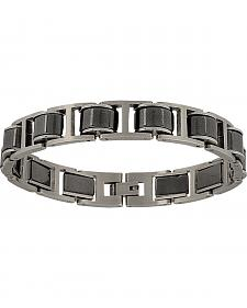 Montana Silversmiths Men's Stainless Steel Linked Bracelet