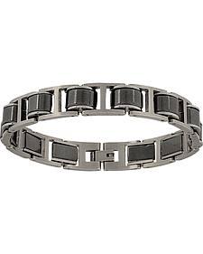 Montana Silversmiths Men's Stainless Steel Linked Bracelet