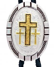 Montana Silversmiths New Traditions Four Directions Cross Bolo Tie