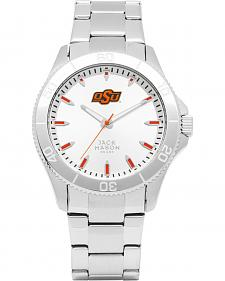 Jack Mason Men's Oklahoma State Cowboys Silver Dial Watch