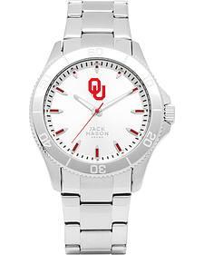 Jack Mason University of Oklahoma Men's Silver Dial Sport Bracelet Watch