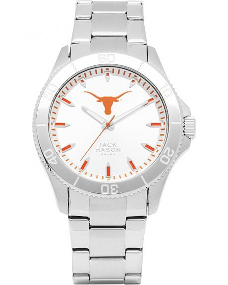 Jack Mason University of Texas Men's Silver Dial Sport Bracelet Watch