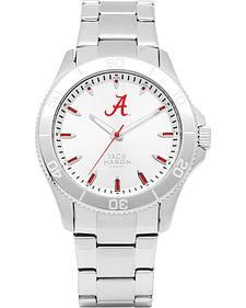 Jack Mason University of Alabama Men's Silver Dial Sport Bracelet Watch