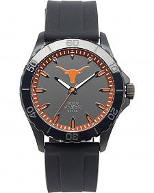 Jack Mason University of Texas Men's Blackout Silicone Strap Watch