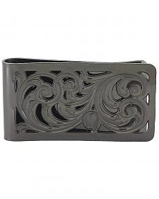 Montana Silversmiths Men's Black Nickel Filigree Money Clip
