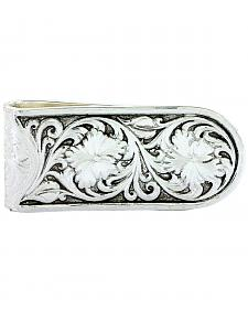 Montana Silversmiths Men's Antiqued Sheridan Rose Money Clip
