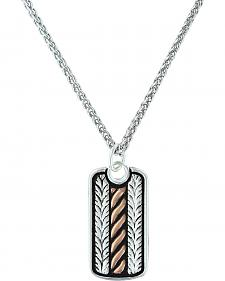 Montana Silversmiths Women's Rose Gold Rope & Wheat Short Necklace