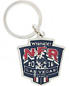 Montana Silversmiths 2016 WNFR Painted Shield Key Ring