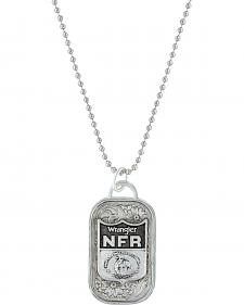 Montana Silversmiths 2016 WNFR Classic Token Dog Tag Necklace with NFR Shield