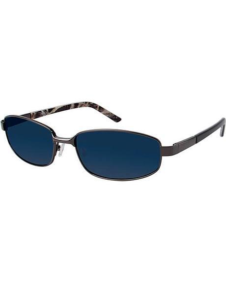 Realtree Men's Gunmetal Grey Metal Polarized Sunglasses