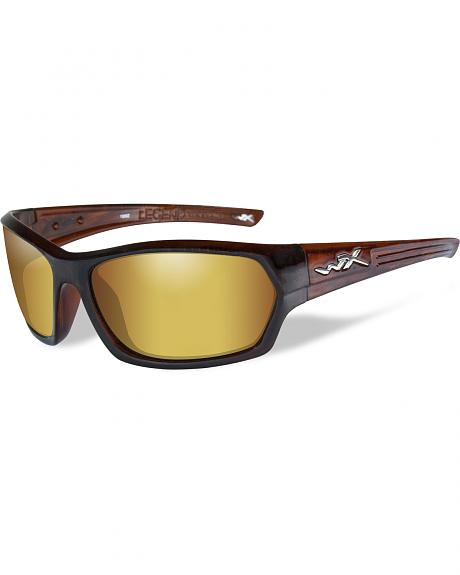 Wiley X Legend Polarized Venice Gold Gloss Hickory Brown Sunglasses