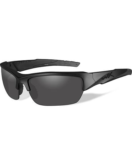 Wiley X Black Ops Valor Polarized Grey Matte Black Sunglasses