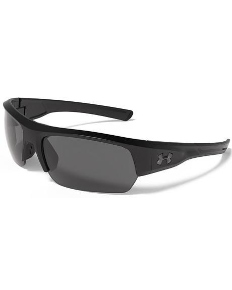 Under Armour Men's Satin Black UA Big Shot Sunglasses