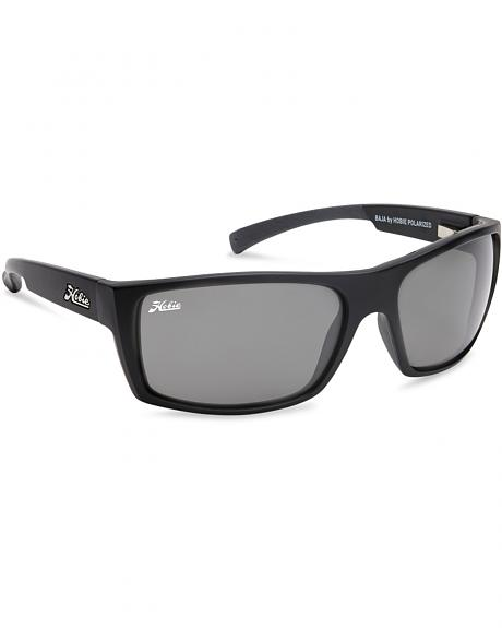 Hobie Men's Grey and Satin Black Baja Polarized Sunglasses