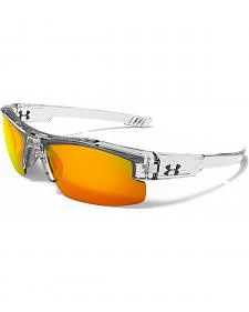 Under Armour Boys' Crystal Clear Yellow Multiflection Nitro L Sunglasses