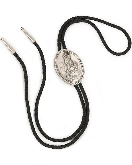 Antiqued Silver-Plated Eagle Bolo