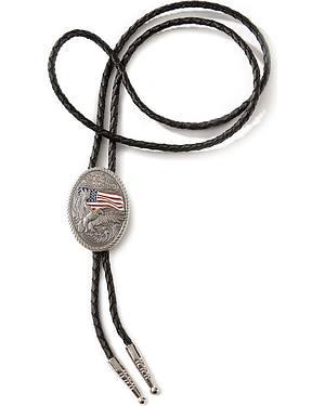 American Flag Eagle Bolo