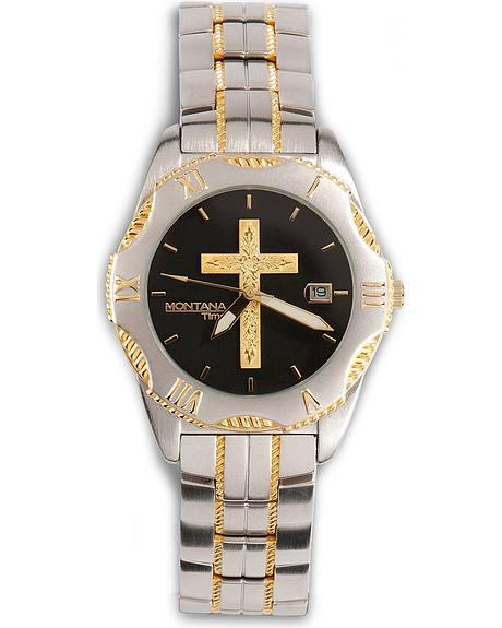 Montana Silversmiths Two-Tone Cross Watch