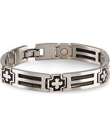 Sabona Cross Cable Magnetic Bracelet - Size M