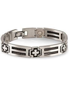 Sabona Cross Cable Magnetic Bracelet - Size L