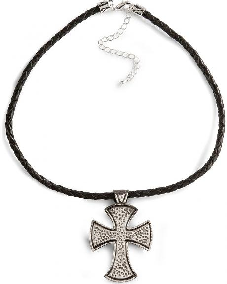 Montana Silversmiths Hammered Cross Necklace