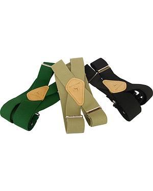 John Deere Leather Patch Suspenders