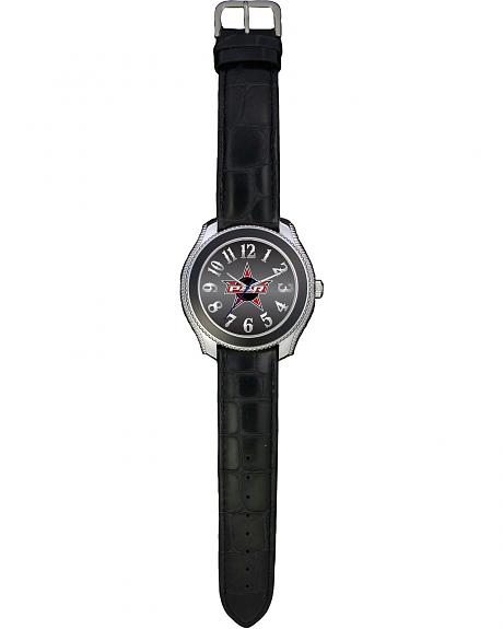 Montana Silversmiths PBR Gator Print Leather Watch