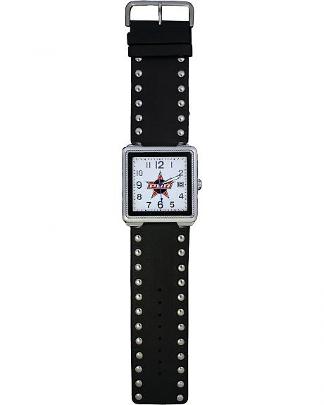 Montana Silversmiths PBR Studded Leather Watch
