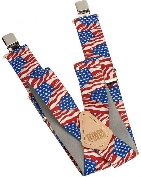 Hired Hand American Flag Suspenders