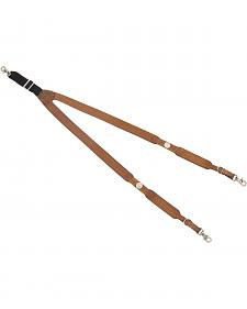 Nocona Buffalo Nickel Leather Suspenders