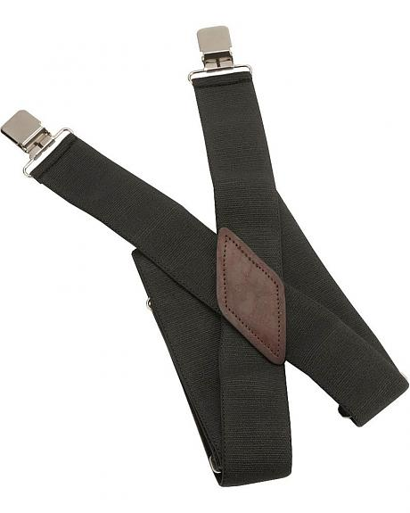 Black Alligator Clip Suspenders