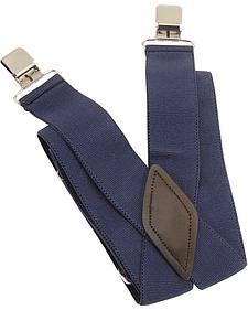 Navy Alligator Clip Suspenders