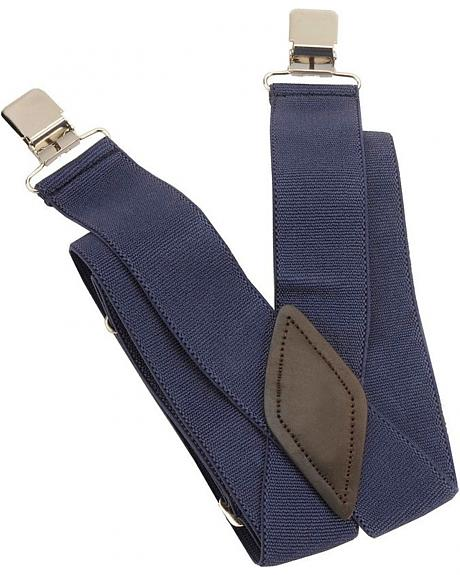Navy Alligator Clip Suspenders
